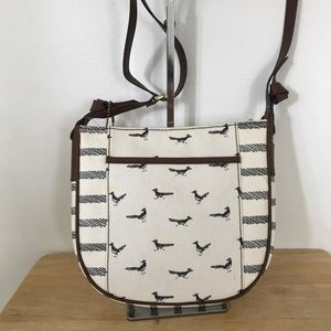 Fossil Mia Crossbody White Black